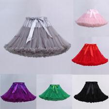 Ladies Girl Petticoat Crinoline Underskirt Swing Ballet Tutu Skirt Lolita Dress