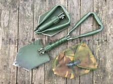 NATO HEAVY DUTY FOLDING SHOVEL & SHEATH Army Entrenching Digging Tool Snow Spade