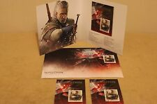 The Witcher 3 - FULL SET FOR COLLECTORS Booklet + 2 Stamps + Envelope RARE