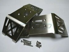 HPI FLUX HP XL 4.6 5.9 Stainless Steel Front + Rear Skid plate Chaiss Armor 2pcs