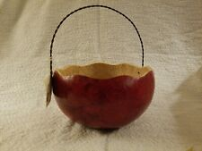 Meadowbrooke Gourds - Red Basket 7.5 inches X 4.5 inches