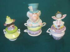 New ListingDisney Alice In Wonderland Mad Hatters' Tea Party Cookie Jar Canister Set, Rare!