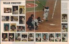 1972 Willie Mays PRINT ARTICLE Baseball pics of many of his trading cards Great!