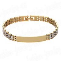 Men's Silver Stainless Steel Cuff Women Chain Link Bracelet Wristband Bangle