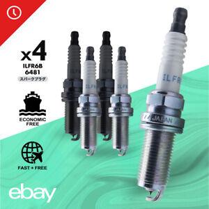 4pc Laser Iridium Resistor ILFR6B #6481 Spark Plugs For Subaru B9 Volvo S80