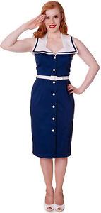 Hell Bunny ALEXA Pin Up SAILOR Vintage MATROSEN Kleid / Dress Rockabilly