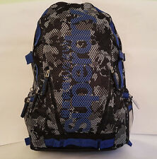 SUPERDRY 2018 CAMO Mesh MP3 Backpack Blue Grey LAPTOP School GYM Rucksack SALE!