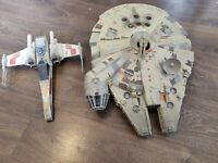 Star Wars 1995 ELECTRONIC MILLENNIUM FALCON + X WING FIGHTER