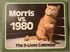 Vintage 1980 Morris The Cat calendar 9-Lives advertising Very Few Date Markings
