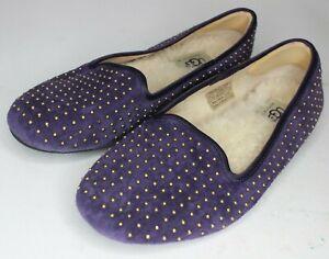 UGG Australia 1004401 Alloway Studded Loafers Purple Velvet Women's Size 5
