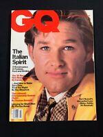 VINTAGE GQ 1985 Magazine KURT RUSSELL COVER, JUDD NELSON, Mens Fashion