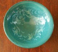 MARK BLUMENFELD POTTERY LAGUNA BEACH CA TURQUOISE BOWL BLUE GREEN 4 MID CENTURY