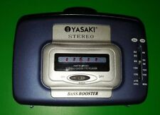 Vintage Yasaki Cassette Player Am Fm Portable Bass Booster Tested