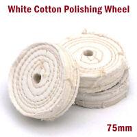 75mmX20mm Baumwoll Polierscheibe weich Glanz Hochglanzpolieren Metalle polieren