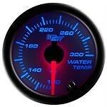 52mm GLOWSHIFT WHITE 7 COLOR COOLANT TEMPERATURE WATER TEMP GAUGE METER GS-W706