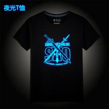 Latest Cute Sword Art Online Luminous Short Sleeve Children T-shirt Cotton Tees