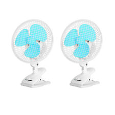 VIVOSUN 2-Pack 6 Inch Clip on Oscillating Fan Fit for 0.59 to 1 Inch Grow Tent