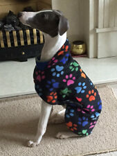 "LURCHER, LARGE DOG THIN FLEECE COAT /JUMPER WITH BELLY PANEL  28"" - 30'' ,NEW"