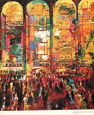 LEROY NEIMAN BOOK PLATE PRINT METROPOLITAN OPERA LINCOLN CENTER NYC GALA CROWD