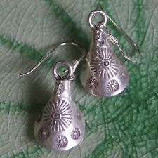 Handicraft Earrings Thai Karen Hilltribe Silver