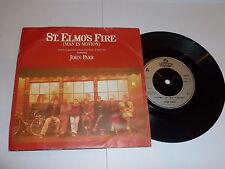 """JOHN PARR - St. Elmo's Fire [Man In Motion] - 1985 UK 2-track 7"""" Vinyl Single"""