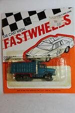 1970's Playart Fast Wheels, Ford Dump Truck, Blue,  New on Card