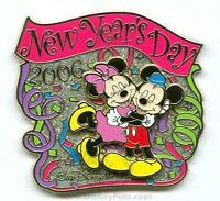 Disney New Year's Day Mickey Mouse & Minnie Mouse Pin