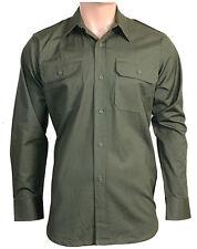Camisas casuales de hombre de manga larga en verde