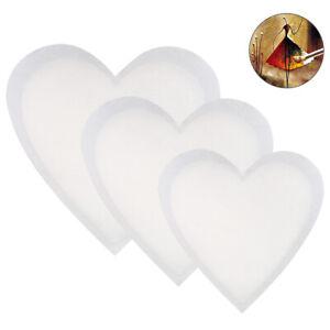 3 Pack Blank Artist Canvas Board Heart Shape DIY Stretched Canvas Panels Framed