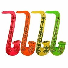 4 Inflatable Saxophone Rock & Roll Fancy Dress Accessories Party Bag Fillers Toy