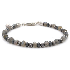 🖤Tateossian London Style Stunning Mens Labradorite & Sterling Bracelet 🖤