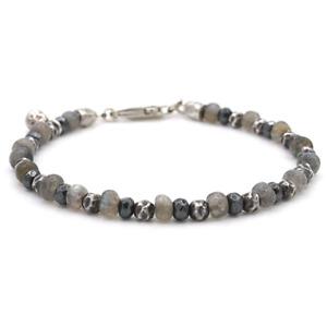 🖤 John Varvatos Style Stunning Mens Labradorite & Sterling Bracelet 🖤