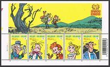 SPIROU**SHEET 5vals-CARTOONS-BD-from Tintin Magazine-2008-Belgium-BD-MNH