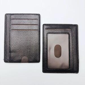 Leather Wallet Credit Card Slots Cash Coin Slim Clip Holder RFID Blocking