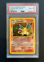 Charizard Holo Pokemon Card English Base-2 Set 4/130 Graded PSA 8 NM-MT