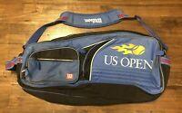 US Open Wilson Tennis Racket Racquet Gym Duffel Blue Bag 30'' Long Shoulder Stra
