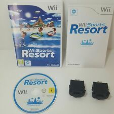 Wii Sports Resort + 2 Genuine Black Nintendo motion plus Dongle add ons