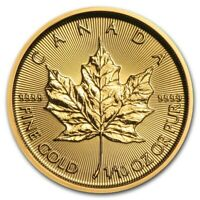 Pièce or 5 dollars Canada Maple Leaf 1/10 d'once d'or 1/10 oz gold coin