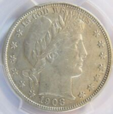 1908-D Barber Half Dollar  PCGS AU 50 Cert# 28362660 REDUCED