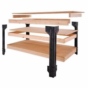 Basics Work Bench Legs Maintenance-Free Structural Resin Wood Made of Durable