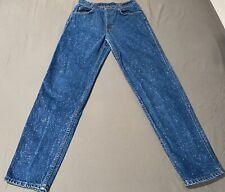 Vintage Levis Jeans Student Size 29x32 Fits Like 27x31 Acid Stone Wash USA Made
