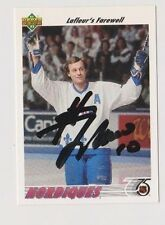 91/92 Upper Deck Guy Lafleur Quebec Nordiques Autographed Hockey Card