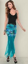 Venus Skirt Asymmetrical Hem Teal & Multi-color - XS - Skirt only