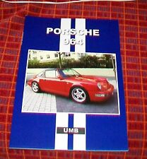PORSCHE 964  ROAD TEST REPRINT BOOK UMB PRESS 911 TURBO CARRERA
