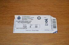 Ticket Club Brugge KV - FC Kopenhagen 17-12-2008 (UEFA-cup)
