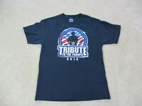 WWE Shirt Adult Large Blue Red Tribute To The Troops WWF Wrestling Wrestler Mens