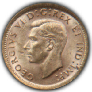 1938 Canada Canadian 1 One Cent Penny BU MS Unc