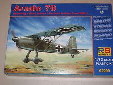 1/72 Scale RS Models Arado Ar-76 German Light Fighter