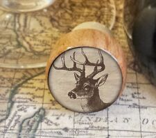 Deer Wine Stopper, Wildlife Handmade Wood Bottle Stopper, Woodland Gift For Him