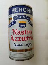 Nastro Azzurro vintage empty Italian beer can; top opened